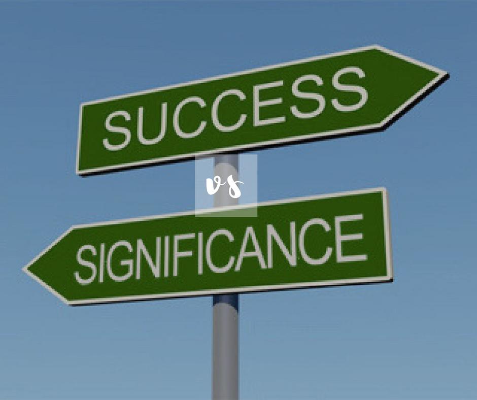 significance vs success